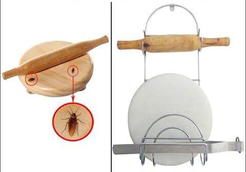 Chakla Belan Stand, Kitchen Accessories, Rolling Pin Holder