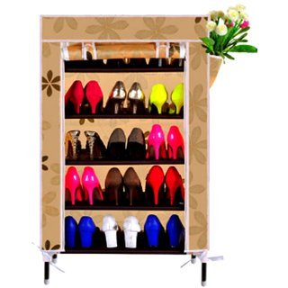 Foldable 4 layer shoe organizer cabinet