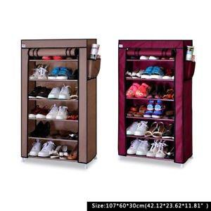 Foldable 4 layer shoe organizer cabinet