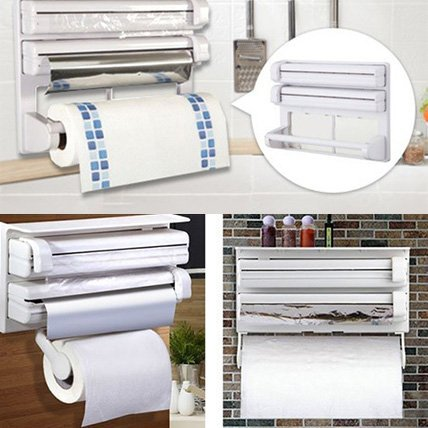 cling film dispenser, cling film holder, Triple Paper Dispensers