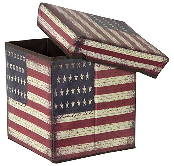 foldable leather storage Box cum stool, drawer organiser, Drawer Organizer for Clothes, Storage Box
