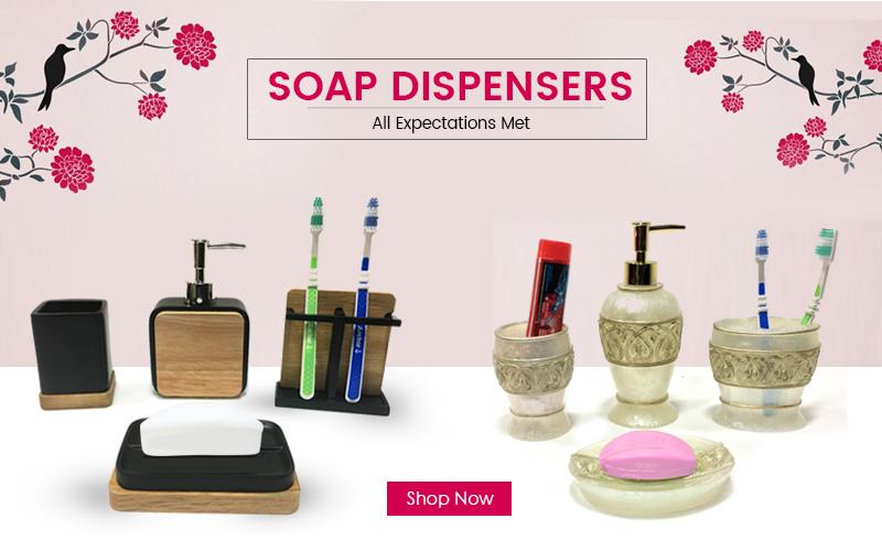 complete bathroom sets, soap dispenser4 sets, designer soap dispenser set