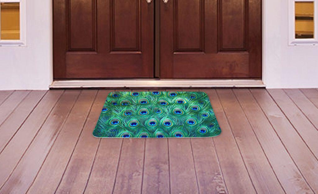 Designer Doormats , Trendy Doormats, 3D Printed Doormats, Microfiber Doormats