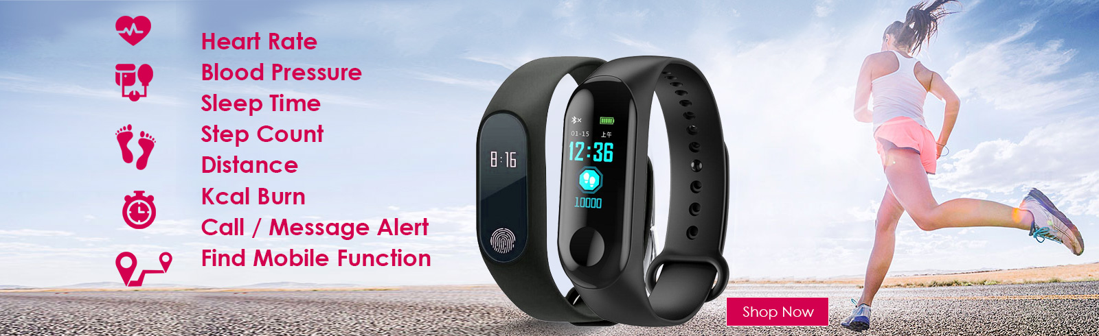 Fitness Band, Smart Android/IOS Bands, fitness watch