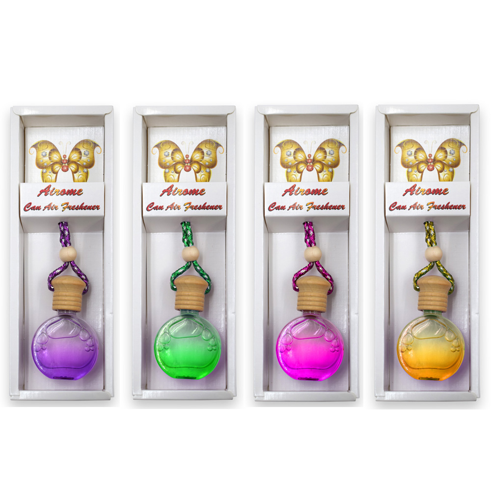 Pack Of 4 Hanging Car Air Freshner ,Fragance Diffuser For Car & Room