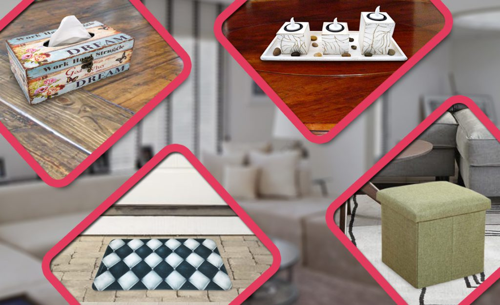 Home decor online, home essentials, home goods, doormats, storage box, candle holders, tissue paper box holder