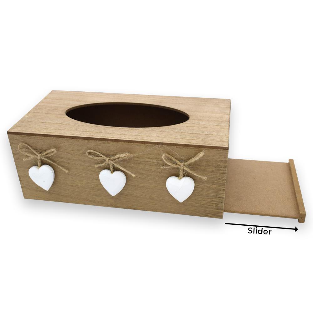 MDF Finish Tissue Box Holder, Tissue Paper holder Box, Tissue Box Holder