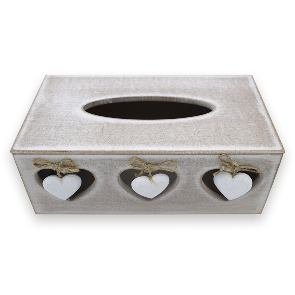 Wood Finish Tissue Paper Box for Office