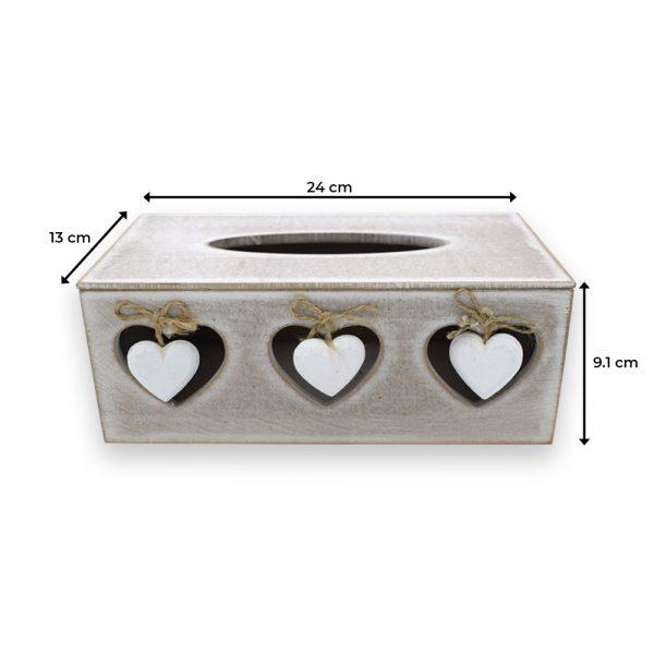 Wood Finish Tissue Paper Box for Kitchen