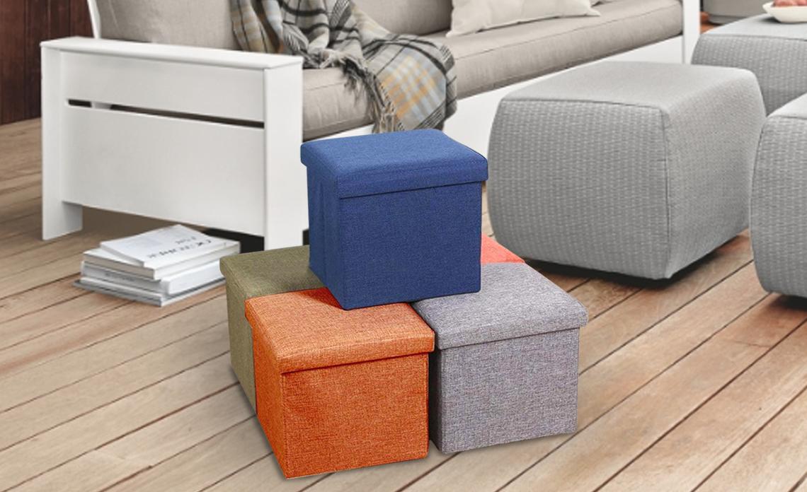 storage box cum stools, storage stools, ottoman stools, linen stools, linen storage stools, storage organizers,