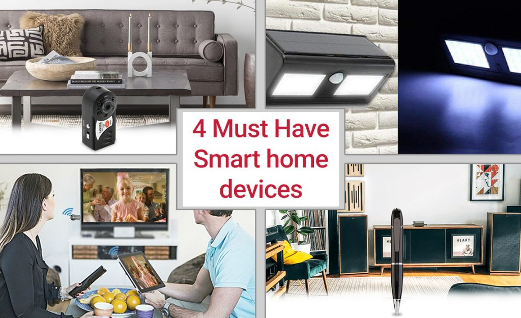 4 must 4 must haves smart home devices, as seen on tv, spy camera pen, anycast wifi dongle, p2p hidden spy camera,