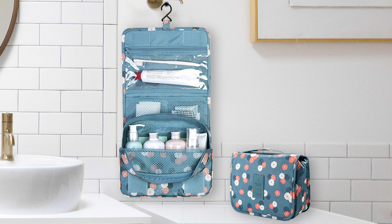 Portable Hanging Storage Bag, toiletry bag, bathroom essentials, travel organisers