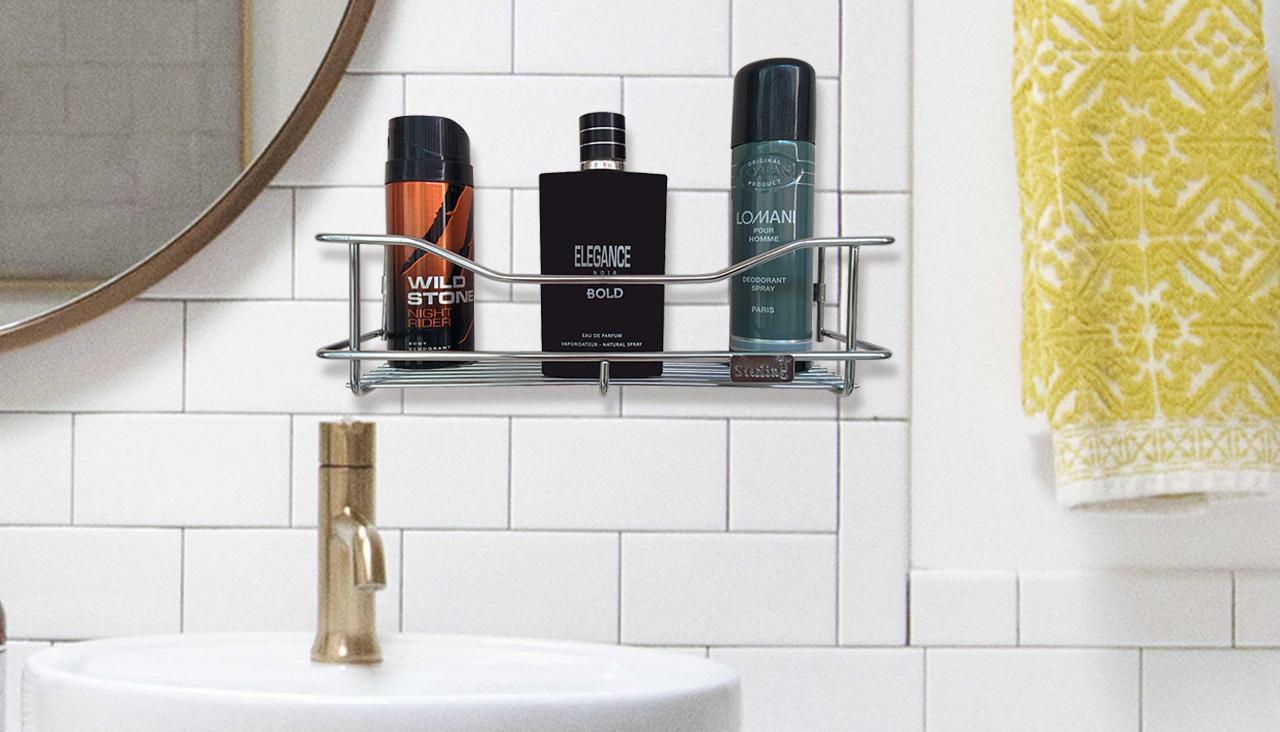 Wall Mounted Shelf, Steel bathroom rack, bathroom shelf online