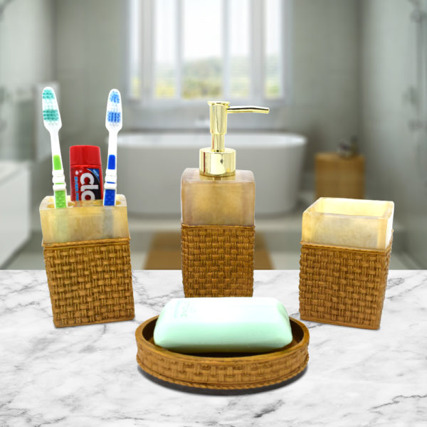 4 Piece Bathroom Set