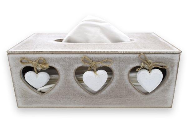 Rectangular MDF Wood Finish Tissue Box Holder