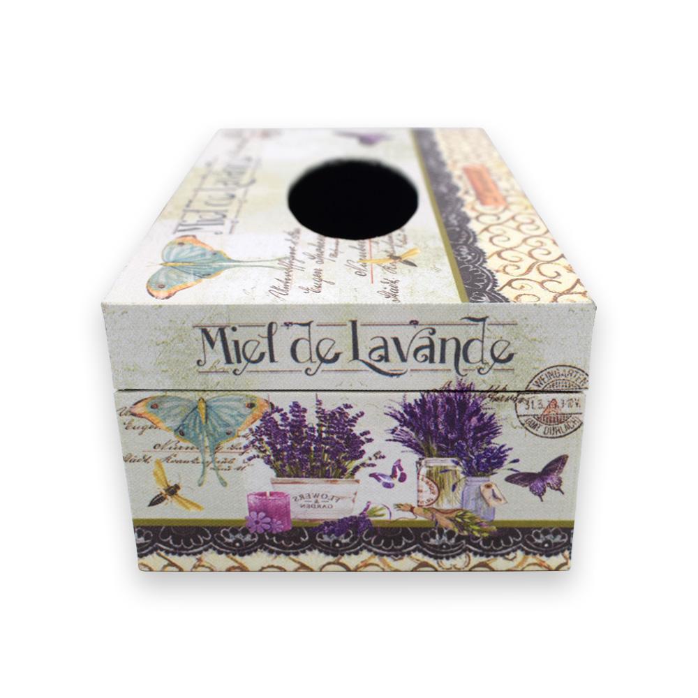 MDF Flower Printed Tissue Paper Box Holder