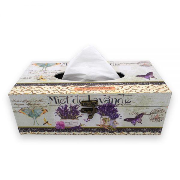MDF Flower Printed Tissue Paper Box Holder