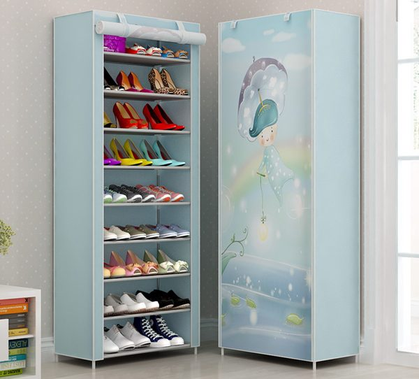 Plastic Shoe Rack with Cover