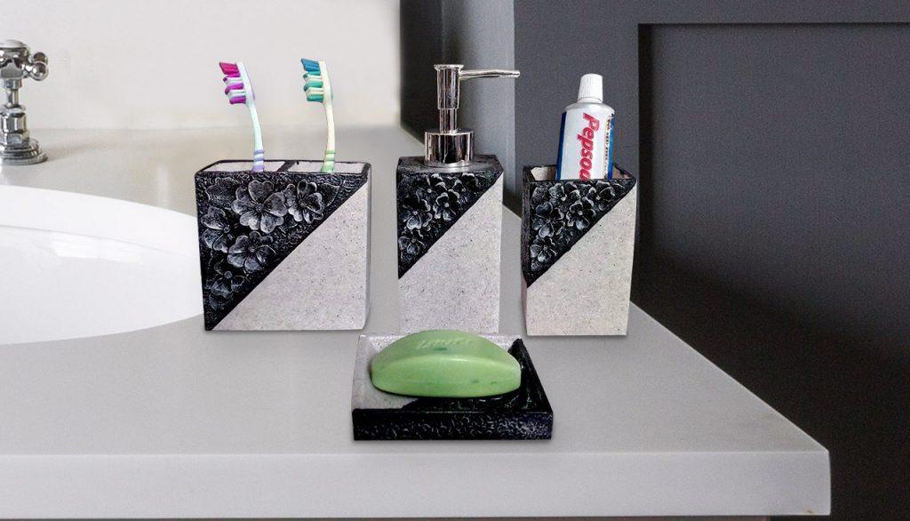 4 piece soap dispenser set