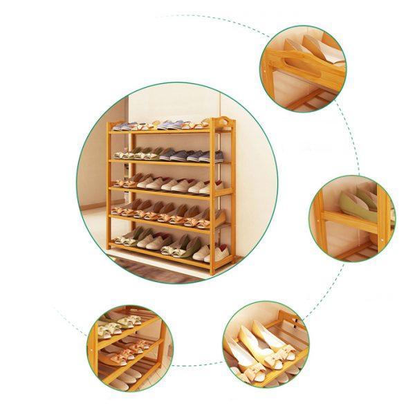 Bamboo/Wooden Shoe Racks